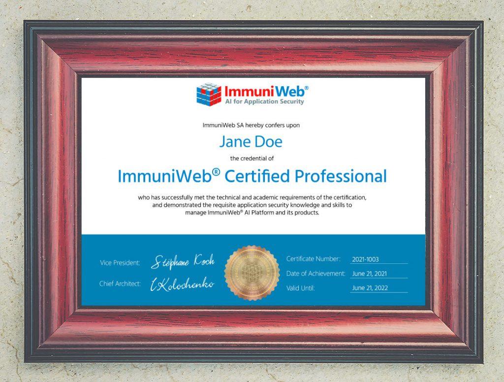 immuniweb-certified-professional-2021